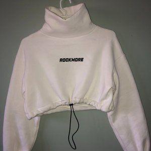 Turtleneck ROCKMORE Graphic Cropped Sweatshirt